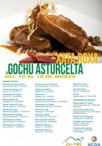 Relación de restaurantes de las Jornadas Xata Roxa - Gochu Asturcelta